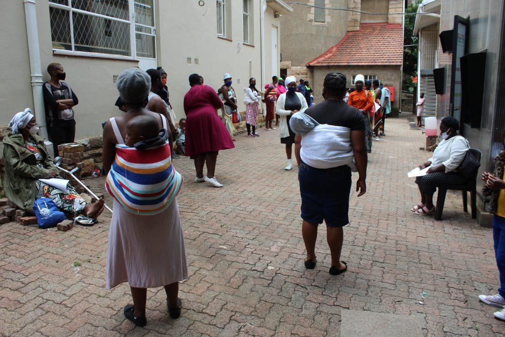 Distribution of food vouchers from Mukuru