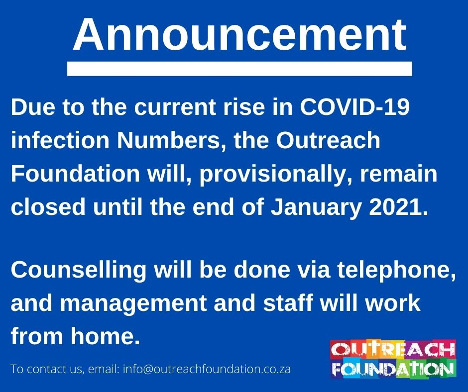 announcement re COVID-19