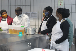 Soweto Chef's academy teaching students at Outreach Foundation