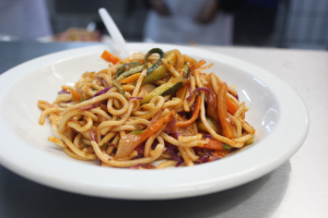 Noodles made by Outreach Foundation's cooking students