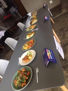 Food prepared by students on Outreach Foundation's Food Preparation course