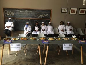 Students put forward their final meals after completing the Outreach Foundation Food Preparation course